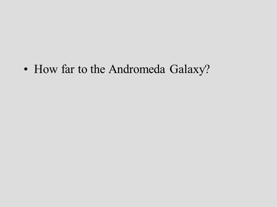How far to the Andromeda Galaxy?