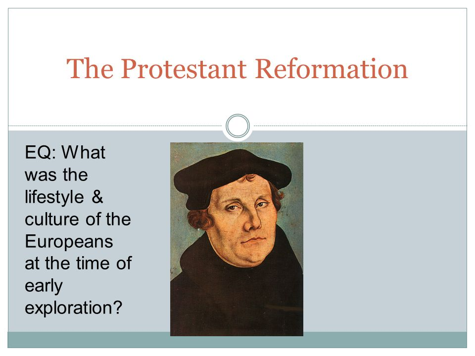 What was the Reformation.