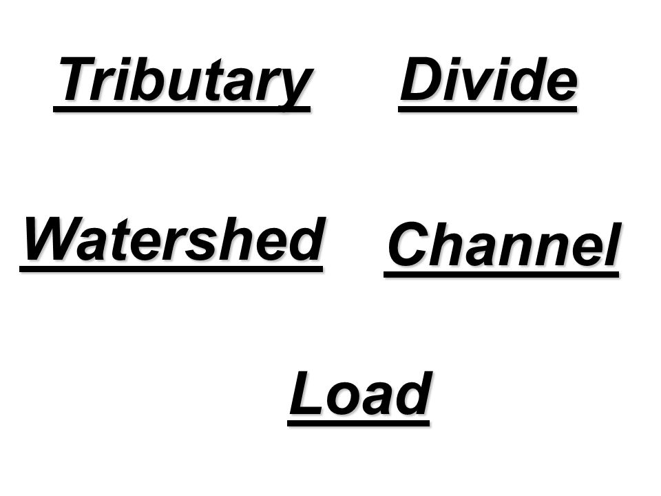 TributaryDivide Watershed Channel Load