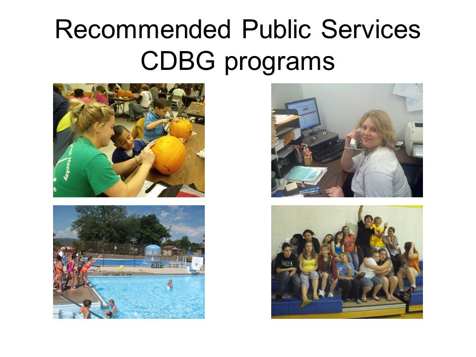Recommended Public Services CDBG programs