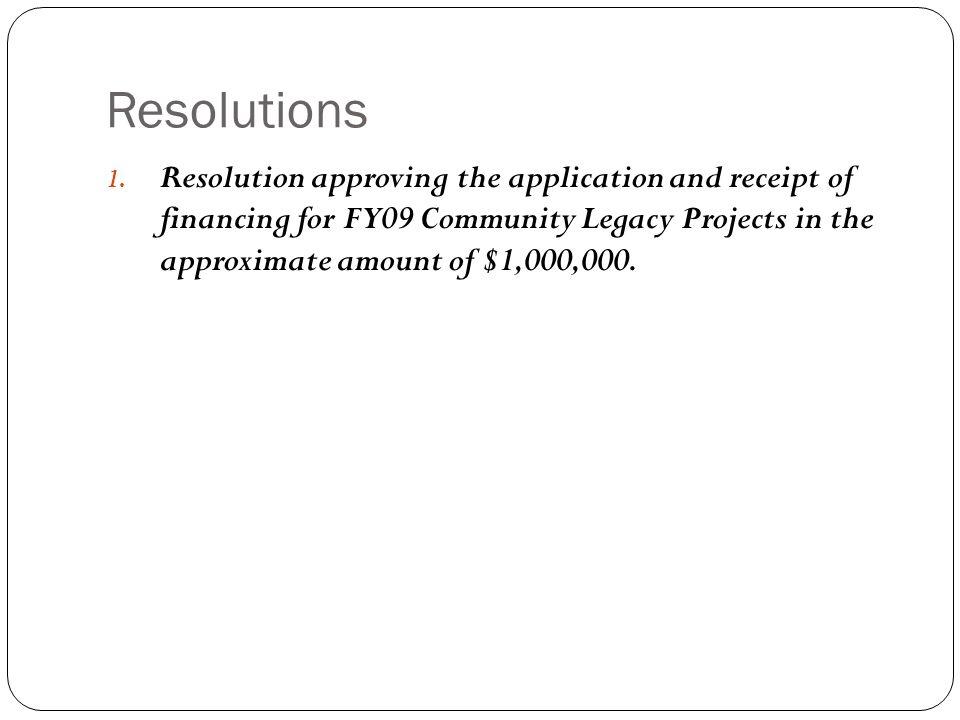 Resolutions 1.