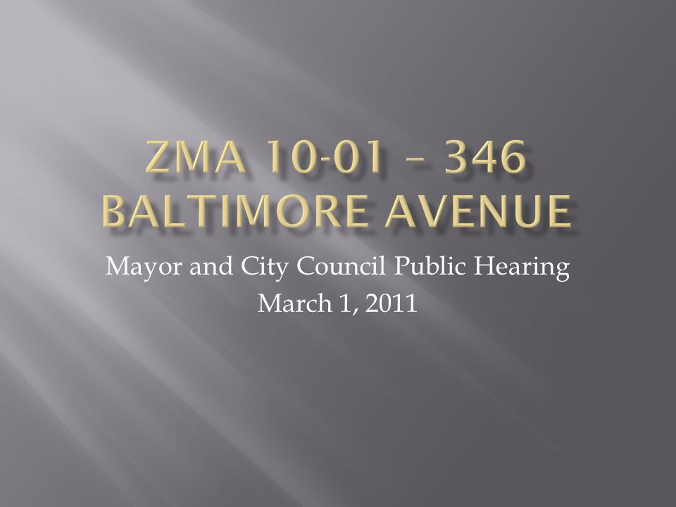 Mayor and City Council Public Hearing March 1, 2011