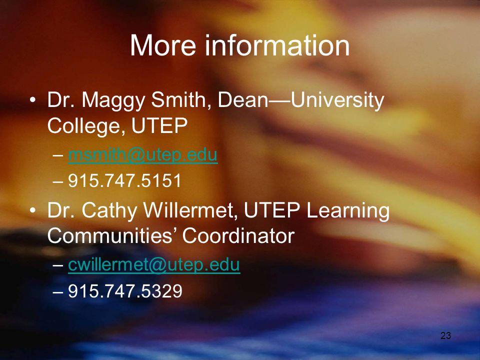 23 More information Dr.