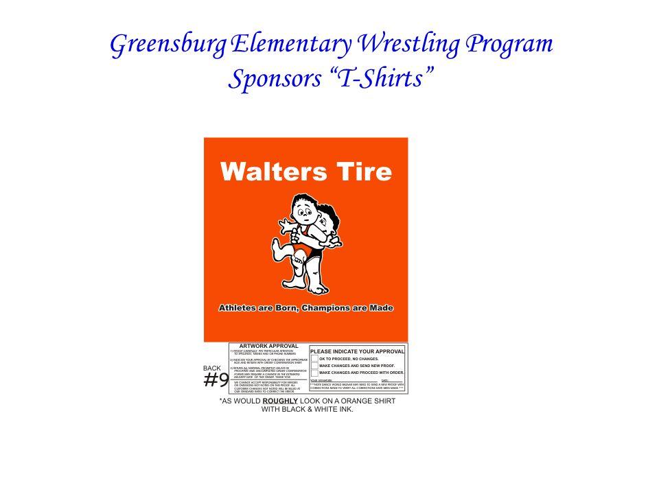 Greensburg Elementary Wrestling Program Sponsors T-Shirts