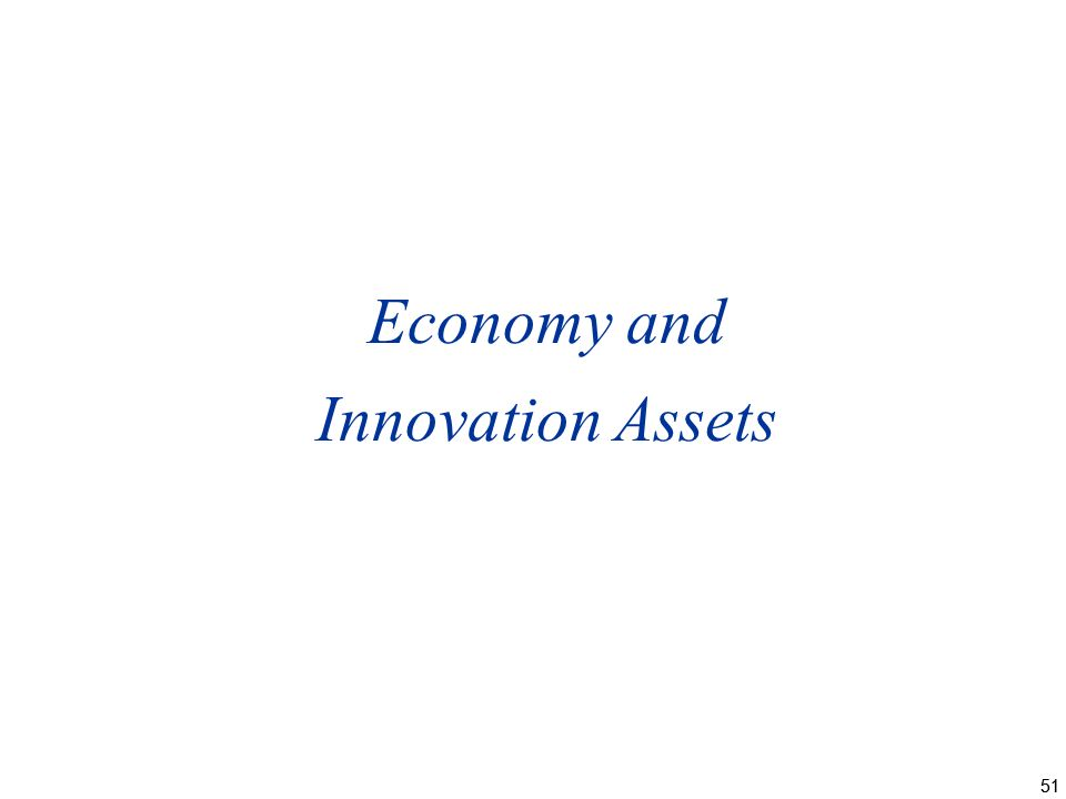 51 Economy and Innovation Assets