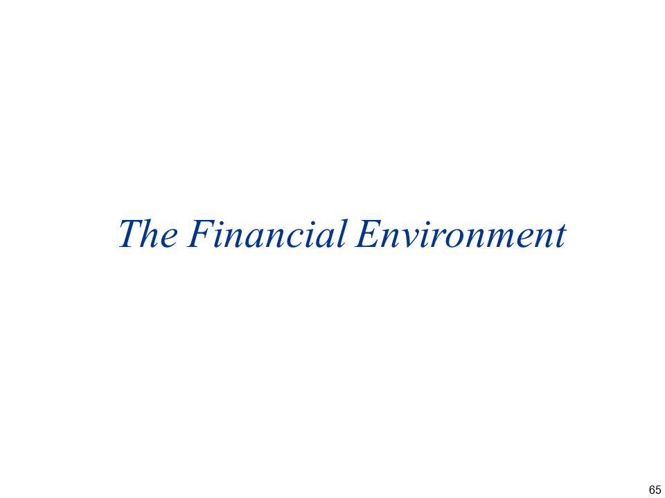 65 The Financial Environment