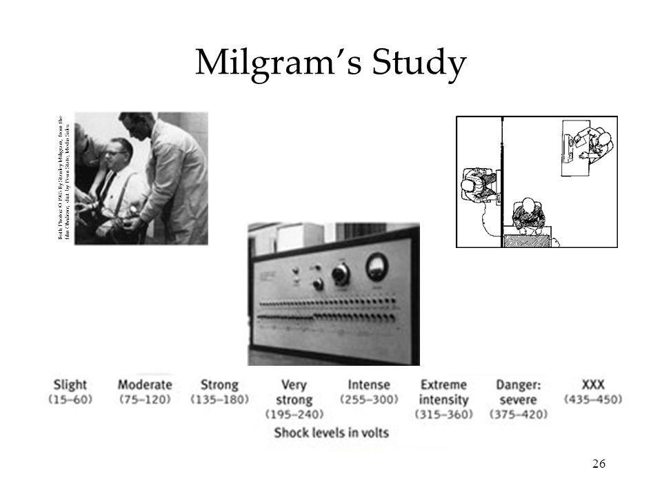 26 Milgrams Study Both Photos: © 1965 By Stanley Miligram, from the film Obedience, dist.