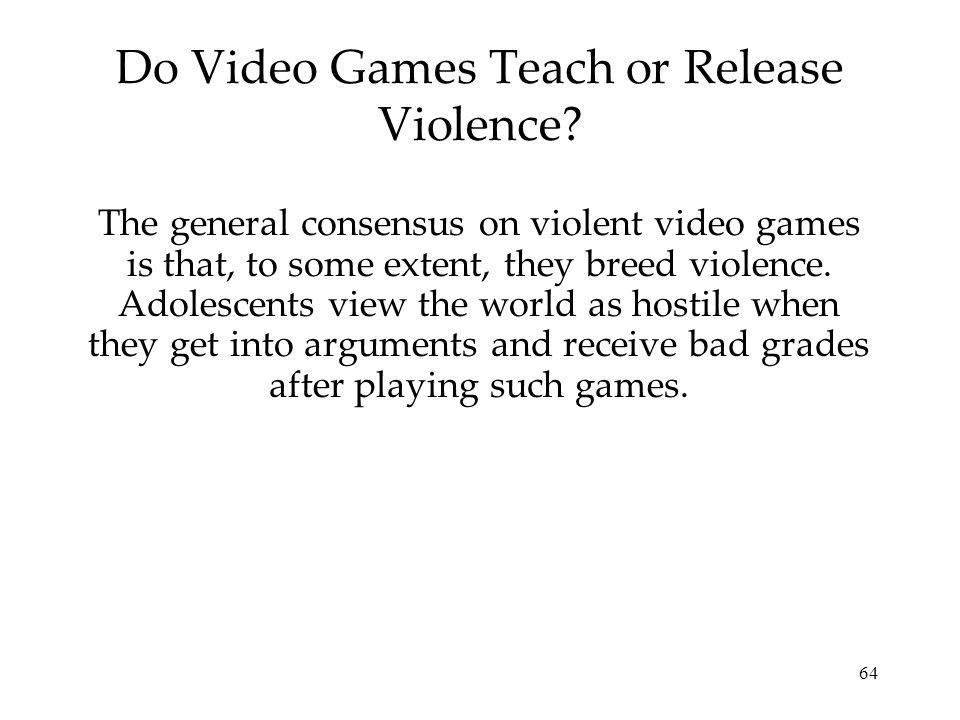 64 Do Video Games Teach or Release Violence.