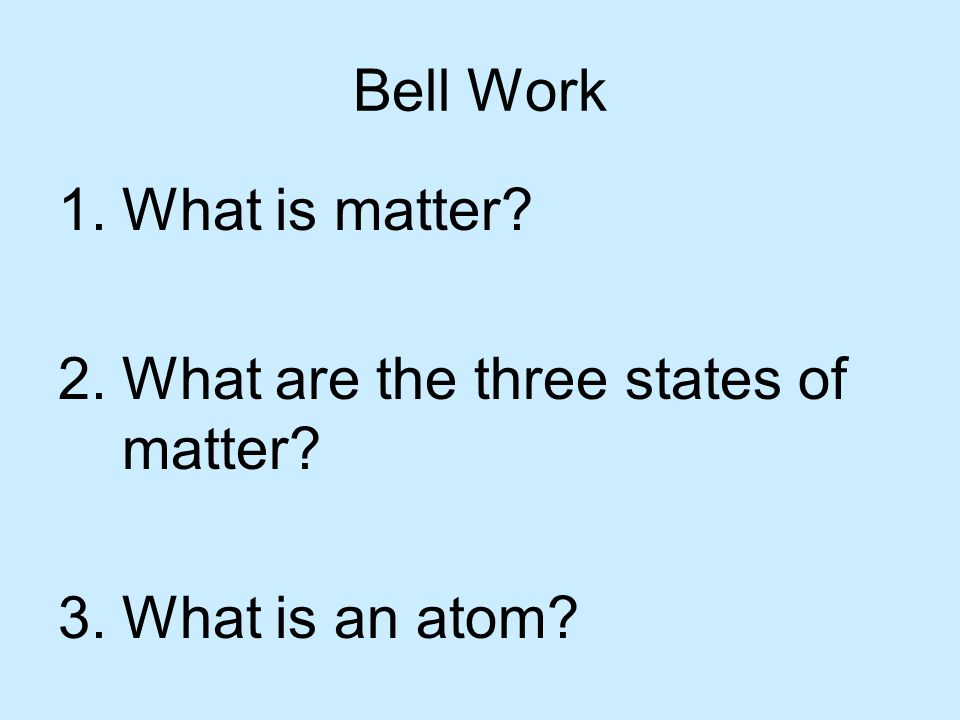 Bell Work Draw each of the following elements.