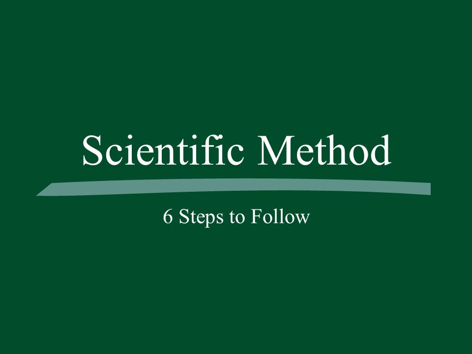 Scientific Method 6 Steps to Follow