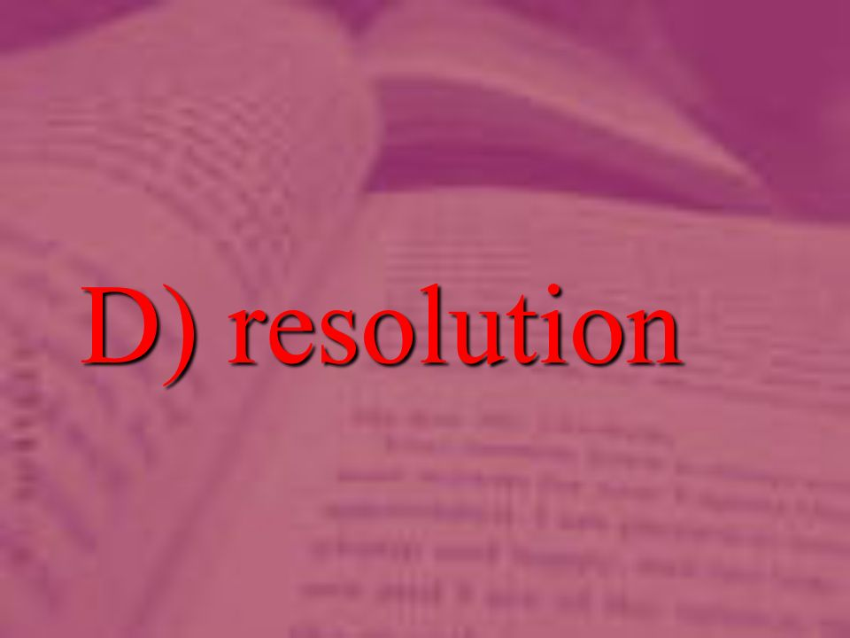 D) resolution