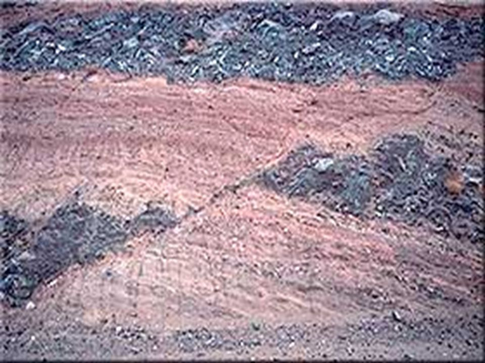 Facts about folds/faults. 1.increased temp. =s fold 2.decreased temp =s fault 3.increased pressure =s fold 4.decreased pressure =s fault 5.rock type –