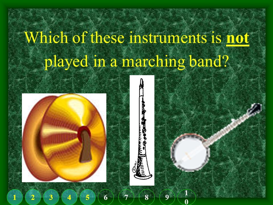 Which of these is a string instrument. 123456789 1010