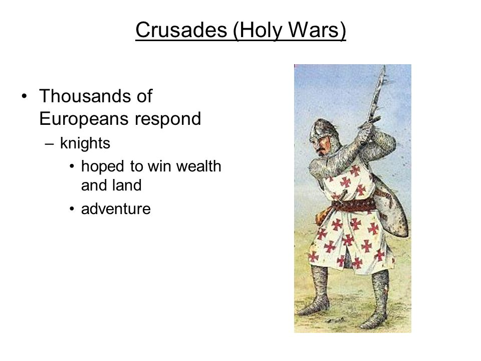 Reconquest in Spain Muslims conquered most of Spain in 700s Christian warriors battled Muslims for 500 years –campaign to drive Muslims out and recover Spain –Reconquista or Reconquest
