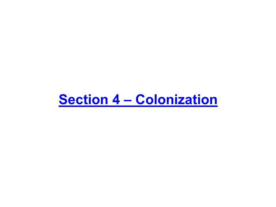 Section 4 – Colonization