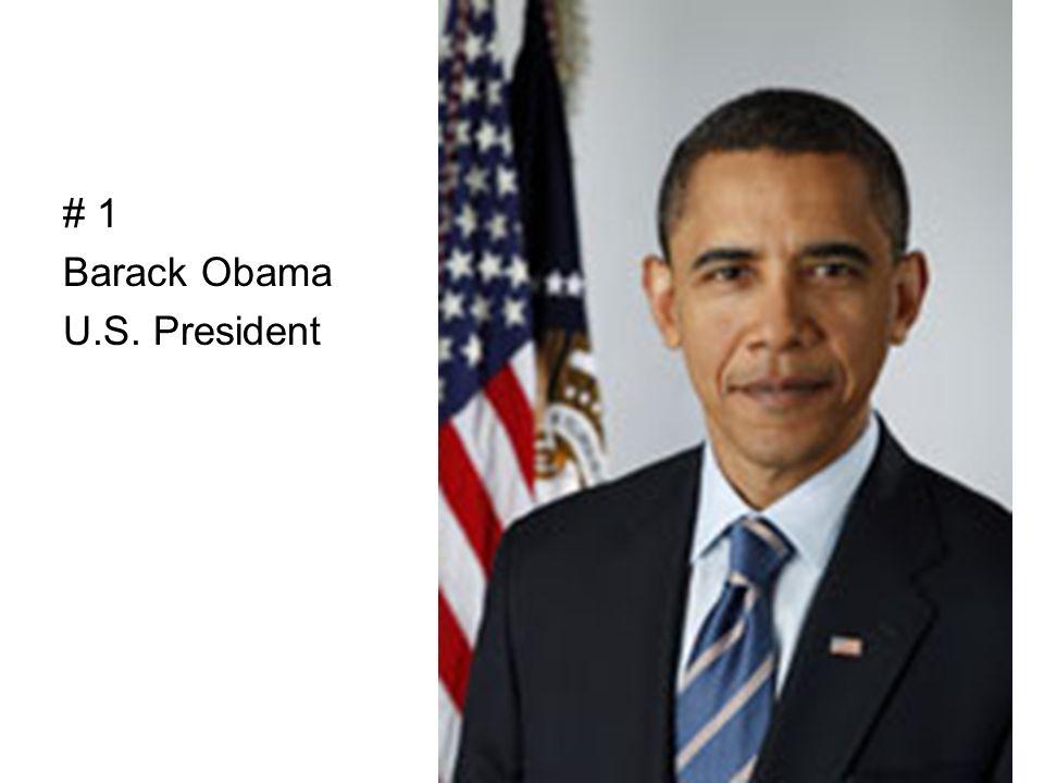 # 1 Barack Obama U.S. President