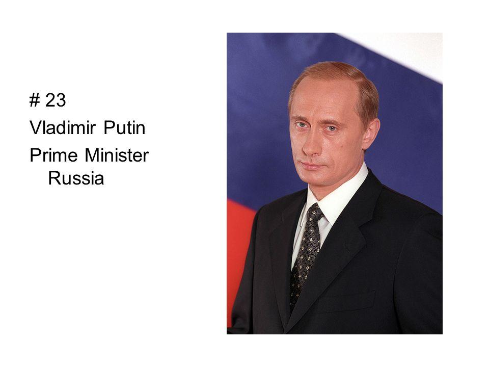 # 23 Vladimir Putin Prime Minister Russia