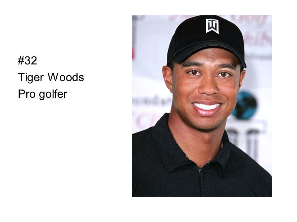 #32 Tiger Woods Pro golfer