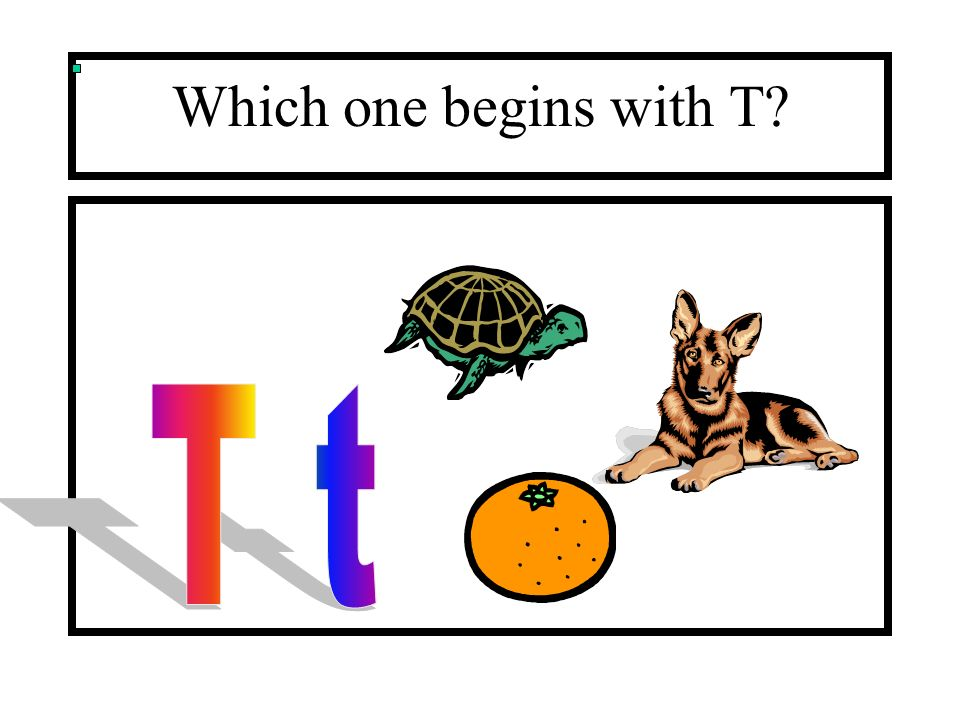 Which one begins with T?