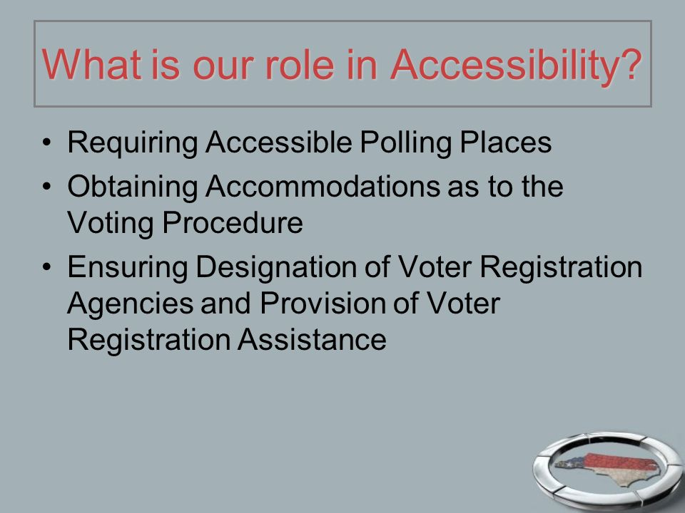 What is our role in Accessibility.
