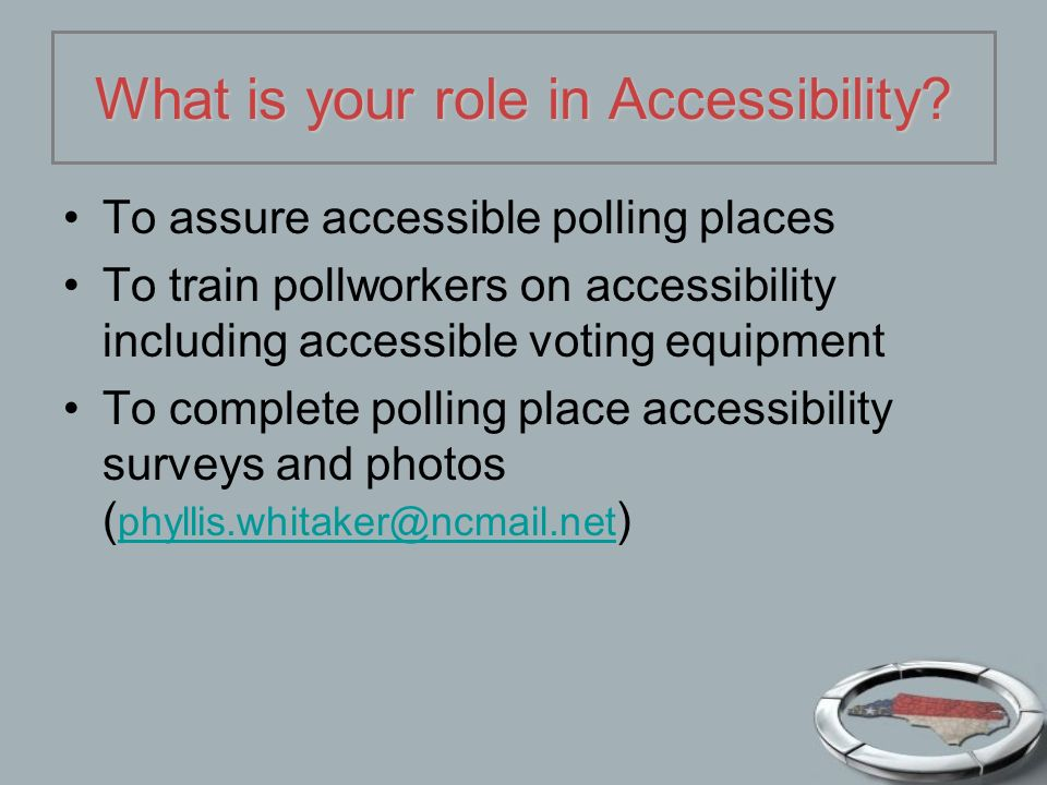What is your role in Accessibility.