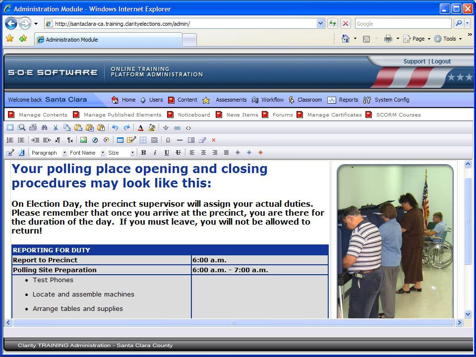 Web Based Election Tools Implementation Schedule 2007- (Limited capability) Training Tool Control Tool ENR Tool 2008- (Expanded capability) Connect Tool Help Desk Tool (Future Design)