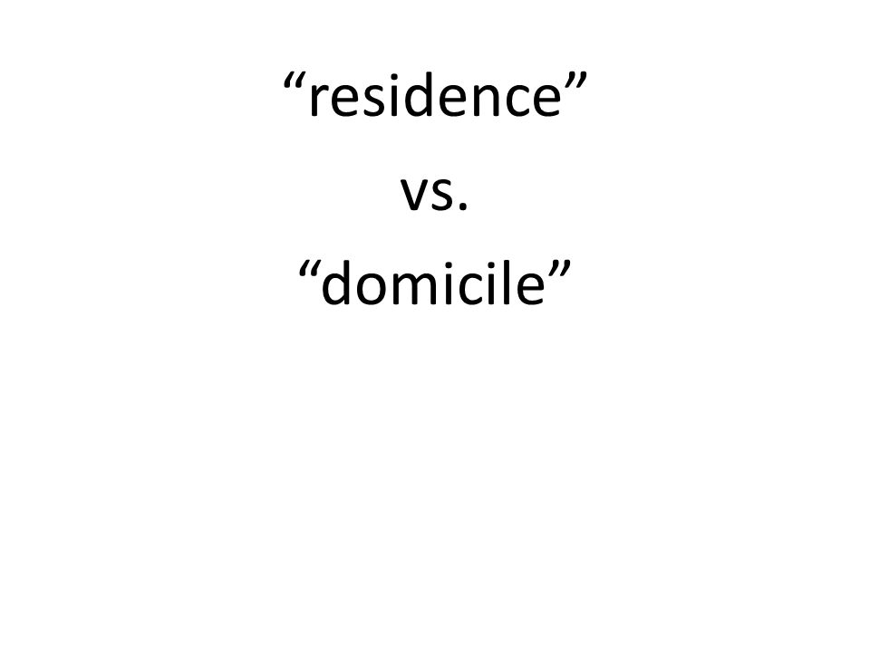 [R]esidence [for voting] is synonymous with domicile, denoting a permanent dwelling place, to which the party, when absent, intends to return.