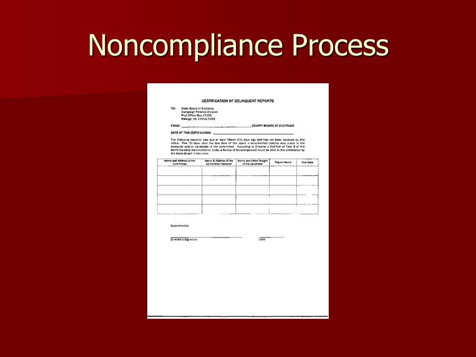 Noncompliance Process