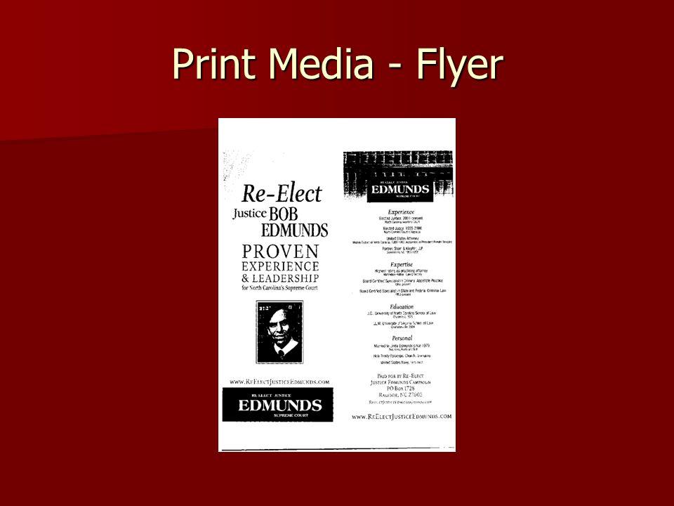 Print Media - Flyer