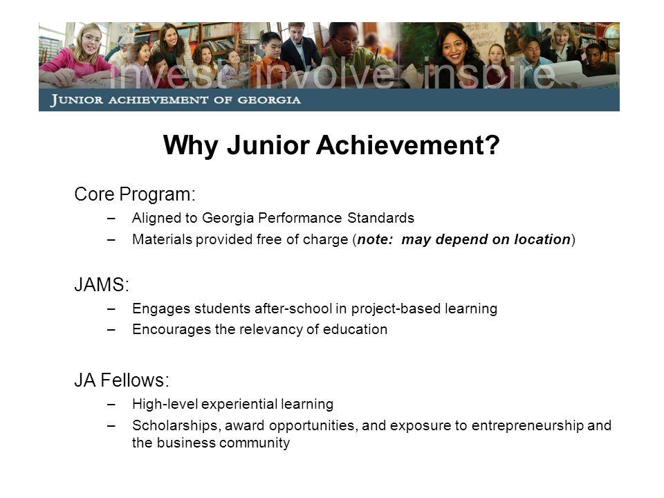 Why Junior Achievement.