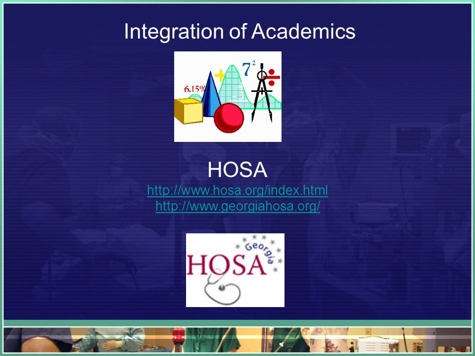 Integration of Academics HOSA