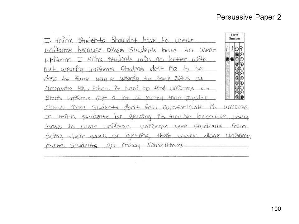 100 Persuasive Paper 2