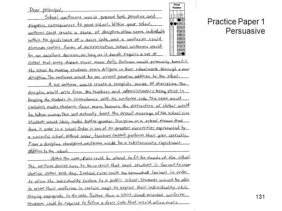 131 Practice Paper 1 Persuasive