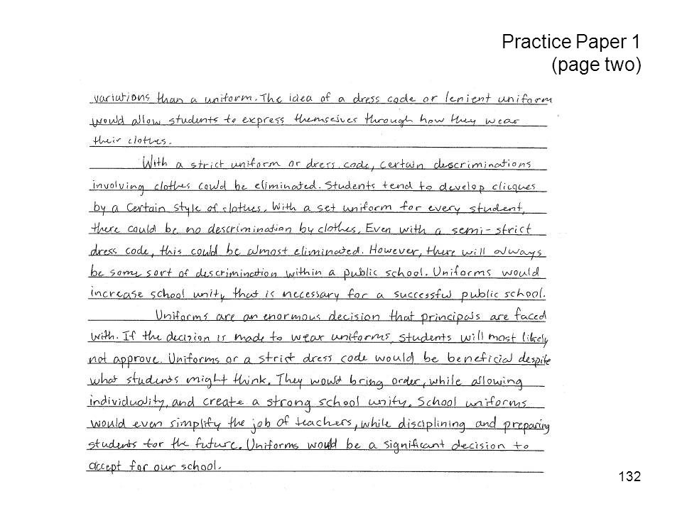 132 Practice Paper 1 (page two)