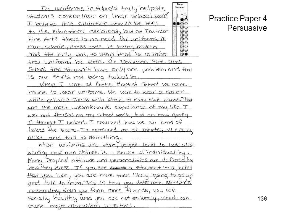 136 Practice Paper 4 Persuasive