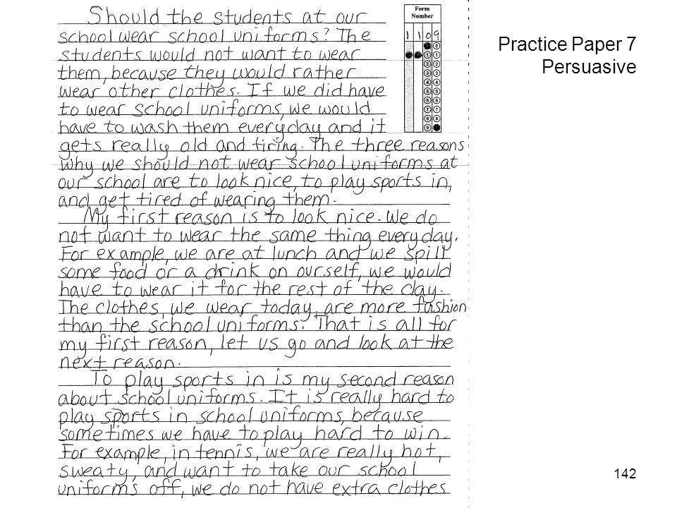 142 Practice Paper 7 Persuasive