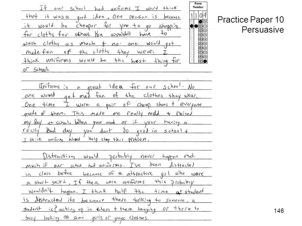 146 Practice Paper 10 Persuasive