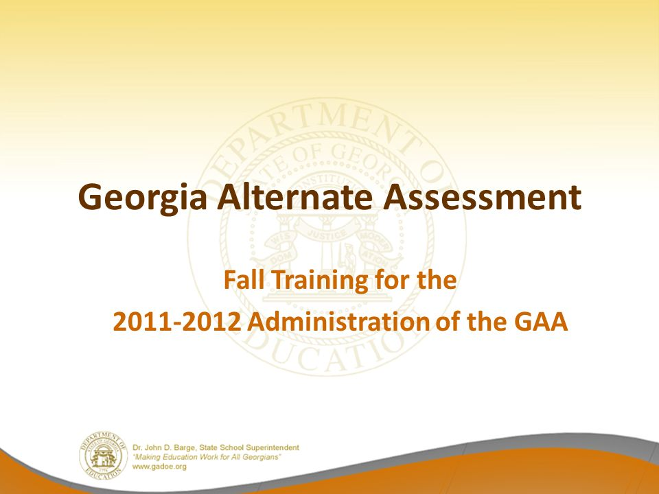 Retest Materials Systems with students who did not pass one or more content areas on the High School GAA will receive retest materials.