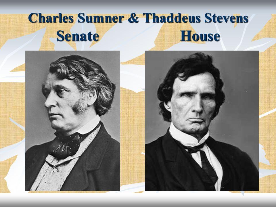 Charles Sumner & Thaddeus Stevens Senate House