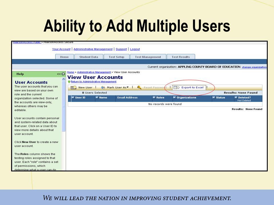 Ability to Add Multiple Users