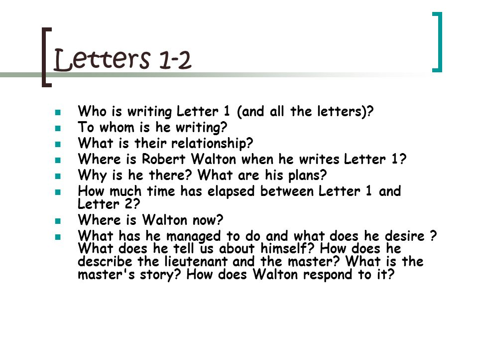 Letters 3-4 How much time has elapsed between Letter 2 and Letter 3.