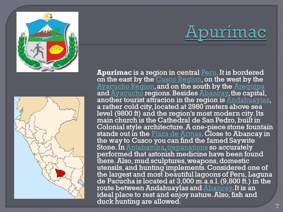 Arequipa is a region in southwestern Peru.
