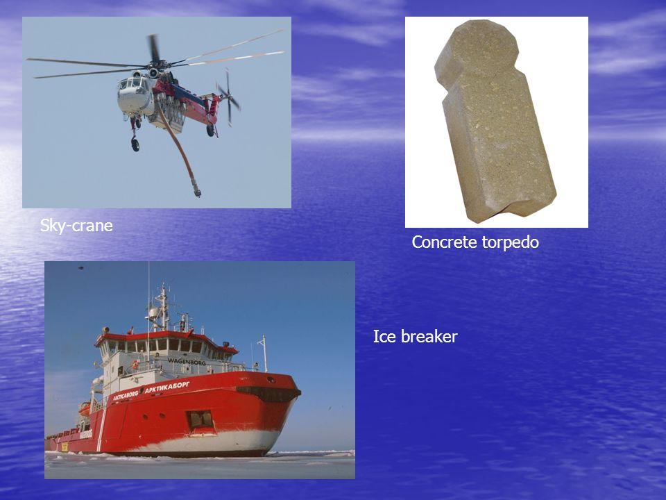 Sky-crane Concrete torpedo Ice breaker