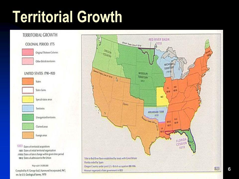 Mr. Elliott6 Territorial Growth