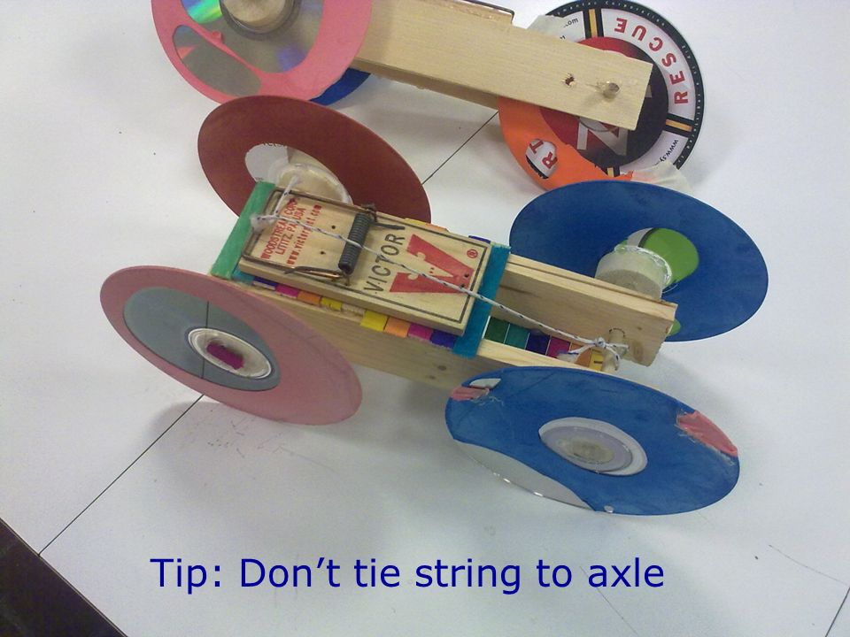 Tip: Dont tie string to axle
