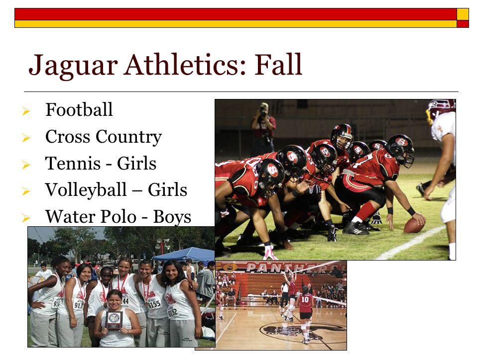 Football Cross Country Tennis - Girls Volleyball – Girls Water Polo - Boys Jaguar Athletics: Fall