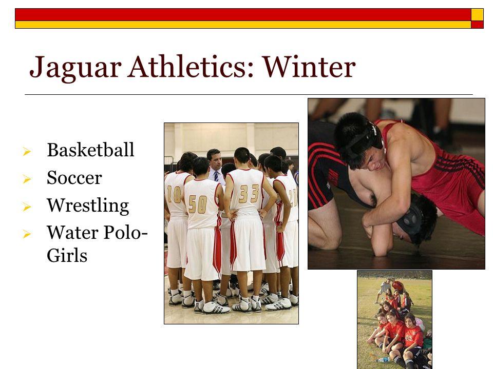 Basketball Soccer Wrestling Water Polo- Girls Jaguar Athletics: Winter