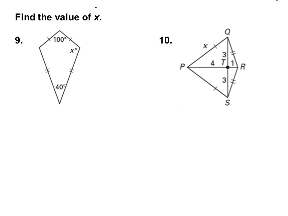 Find the value of x. 9.10.