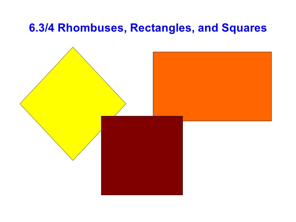 6.3/4 Rhombuses, Rectangles, and Squares