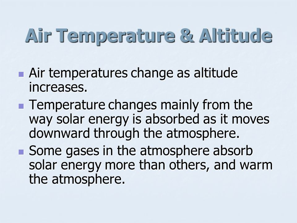 What does air pressure, temperature, and layers of the atmosphere have to do with weather.